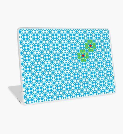 Tessellation tiling pattern in blue Laptop Skin