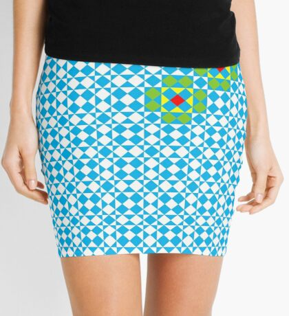 Tessellation tiling pattern in blue Mini Skirt