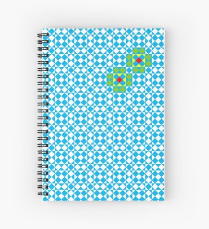 Tessellation tiling pattern in blue Spiral Notebook