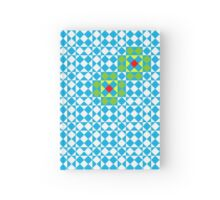 Tessellation tiling pattern in blue Hardcover Journal