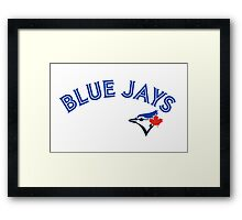 Toronto Blue Jays Wordmark with logo Framed Print