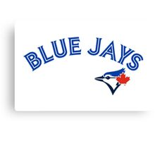 Toronto Blue Jays Wordmark with logo Canvas Print