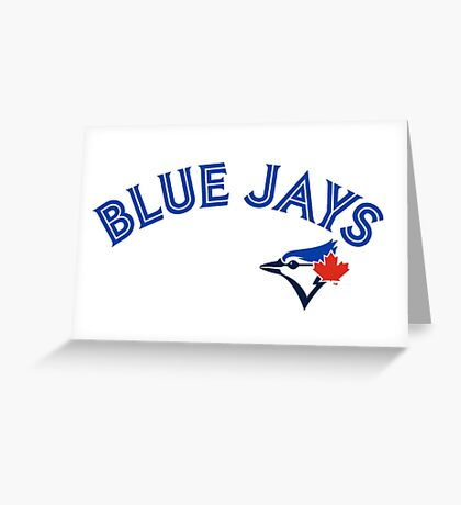 Toronto Blue Jays Wordmark with logo Greeting Card