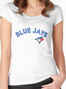 Toronto Blue Jays Wordmark with logo Women's Fitted Scoop T-Shirt