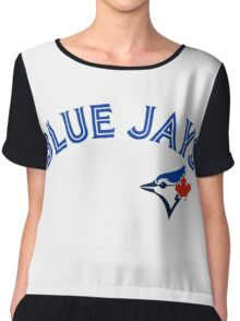 Toronto Blue Jays Wordmark with logo Chiffon Top