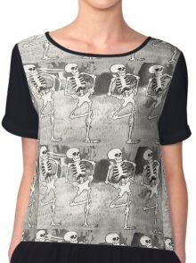 Dancing Skeletons Chiffon Top