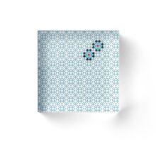 Math Tessellation Pattern Acrylic Block