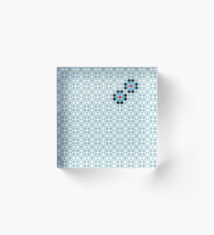 Math Tessellation Pattern Acrylic Block