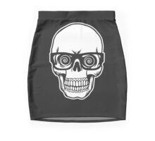 Skull with Glasses Mini Skirt