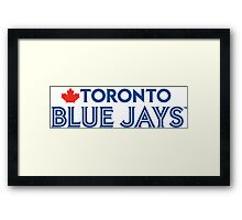 Toronto Blue Jays Wordmark with Canada maple leaf Framed Print