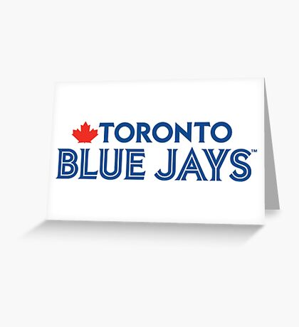 Toronto Blue Jays Wordmark with Canada maple leaf Greeting Card