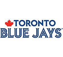 Toronto Blue Jays Wordmark with Canada maple leaf Photographic Print