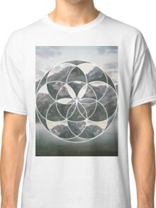 Mountain scape Geometric Collage Classic T-Shirt