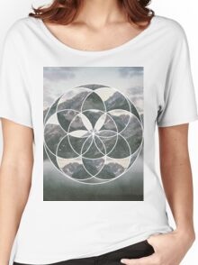 Mountain scape Geometric Collage Women's Relaxed Fit T-Shirt