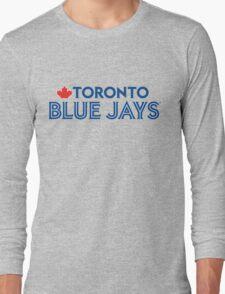 Toronto Blue Jays Wordmark with Canada maple leaf Long Sleeve T-Shirt