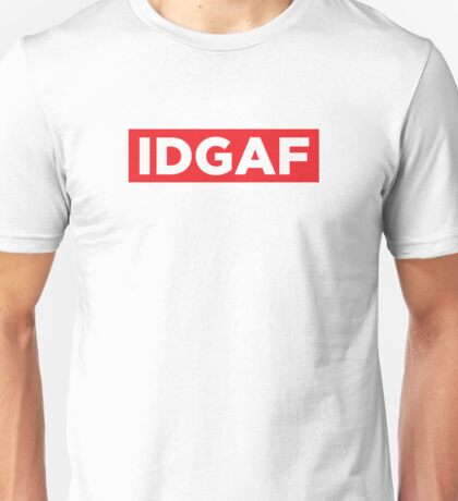 I Don't Give a F - Red Unisex T-Shirt