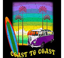 Colorful Hippy Surfer Coast to Coast Sunset Photographic Print
