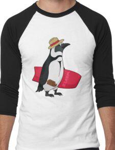 Surfing bird Men's Baseball ¾ T-Shirt