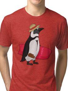 Surfing bird Tri-blend T-Shirt