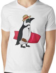 Surfing bird Mens V-Neck T-Shirt