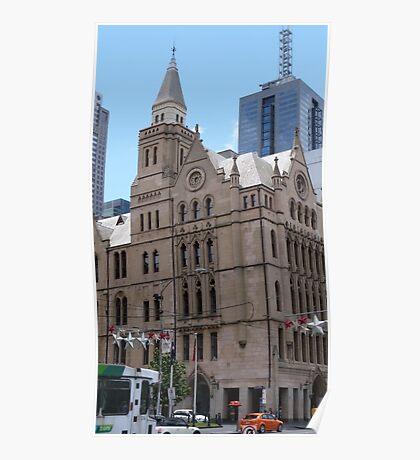Classic Architecture & the New. City of Melbourne. Vic. Poster