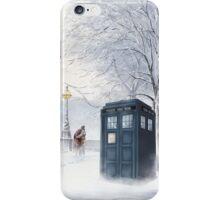 Tardis Snow Romantic Winter iPhone Case/Skin