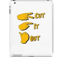 cut it out iPad Case/Skin