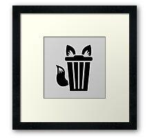 Furry Trash Icon Framed Print