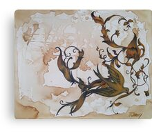 Baroque Bird Floral Oil Canvas Painting Canvas Print