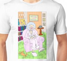 cancer woman relaxing at home with a cuppa Unisex T-Shirt