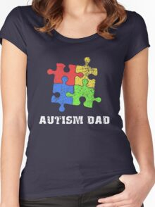 Autism Dad Women's Fitted Scoop T-Shirt