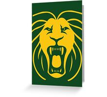 Les Lions Greeting Card