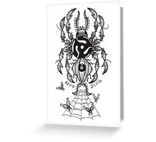 45 RPM SPIDER Greeting Card