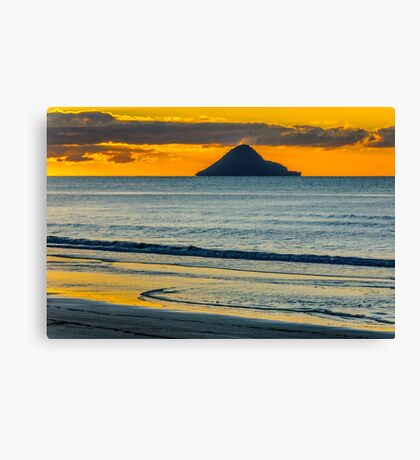 Whale Island at Sunset Canvas Print