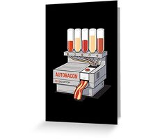 Auto Bacon Greeting Card