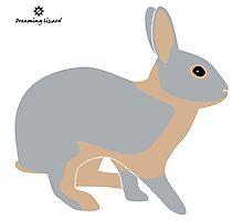 lilac tan rabbit Photographic Print