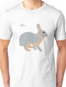 lilac tan rabbit Unisex T-Shirt