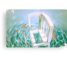 diver's abode. Canvas Print