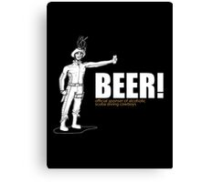 Beer Official Cowboys Canvas Print