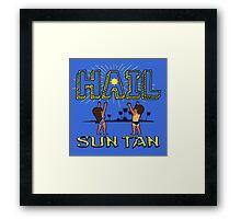 Hail Sun tan  Framed Print