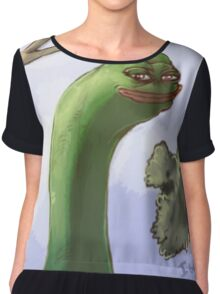 Rare Pepe Meme Chiffon Top