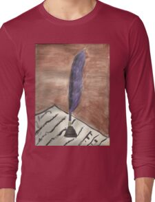 Purple Quill Love Letter Long Sleeve T-Shirt