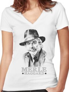 Haggard Women's Fitted V-Neck T-Shirt