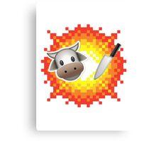 Cow Chop! Canvas Print