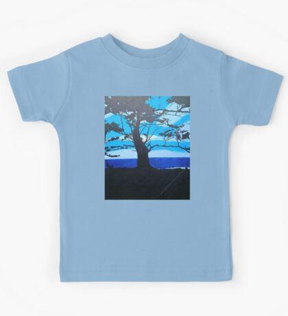 Blue Sunset Kids Tee