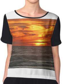 Amazing Sunset Chiffon Top