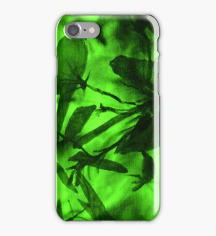 """Vibrant Green -""""Bird On A Branch"""" iPhone Case/Skin"""