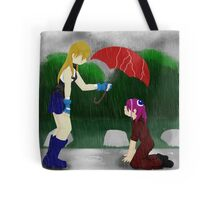 An Umbrella in the Rain Tote Bag
