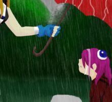 An Umbrella in the Rain Sticker