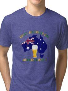 Happy Australia Day Tri-blend T-Shirt